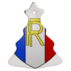 Semi-Official Shield of France Christmas Tree Ornament (Two Sides)