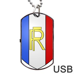 Semi-Official Shield of France Dog Tag USB Flash (One Side)