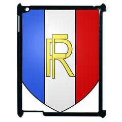 Semi-Official Shield of France Apple iPad 2 Case (Black)