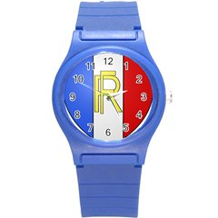 Semi-Official Shield of France Round Plastic Sport Watch (S)