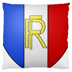 Semi-Official Shield of France Large Cushion Case (One Side)