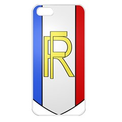 Semi-Official Shield of France Apple iPhone 5 Seamless Case (White)