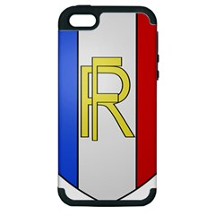 Semi-Official Shield of France Apple iPhone 5 Hardshell Case (PC+Silicone)