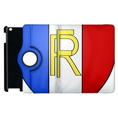 Semi-Official Shield of France Apple iPad 2 Flip 360 Case