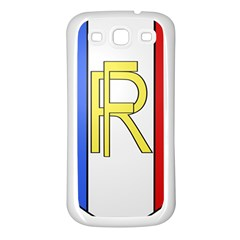 Semi-Official Shield of France Samsung Galaxy S3 Back Case (White)