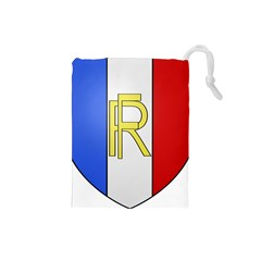 Semi-Official Shield of France Drawstring Pouches (Small)