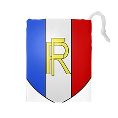 Semi-Official Shield of France Drawstring Pouches (Large)