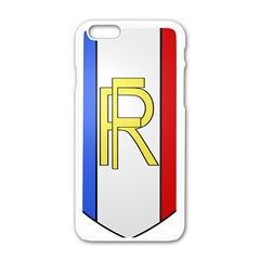 Semi-Official Shield of France Apple iPhone 6/6S White Enamel Case