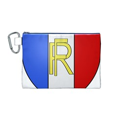 Semi-Official Shield of France Canvas Cosmetic Bag (M)