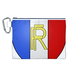 Semi-Official Shield of France Canvas Cosmetic Bag (L)
