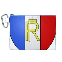 Semi-Official Shield of France Canvas Cosmetic Bag (XL)