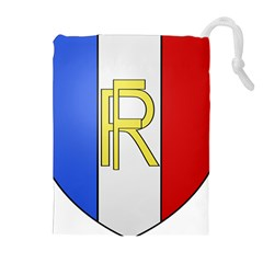 Semi-Official Shield of France Drawstring Pouches (Extra Large)
