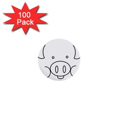 Pig Logo 1  Mini Buttons (100 pack)