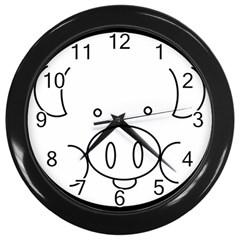Pig Logo Wall Clocks (Black)