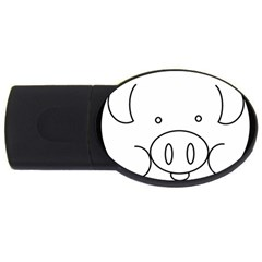 Pig Logo USB Flash Drive Oval (2 GB)