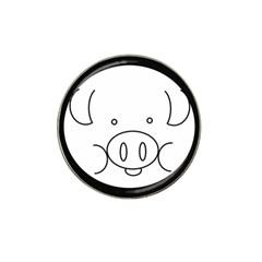 Pig Logo Hat Clip Ball Marker
