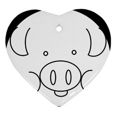 Pig Logo Heart Ornament (two Sides)