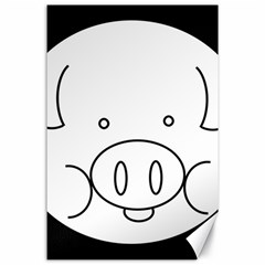 Pig Logo Canvas 24  X 36