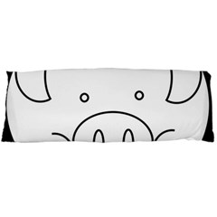 Pig Logo Body Pillow Case Dakimakura (two Sides)
