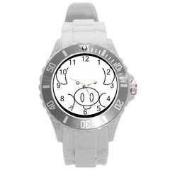 Pig Logo Round Plastic Sport Watch (L)