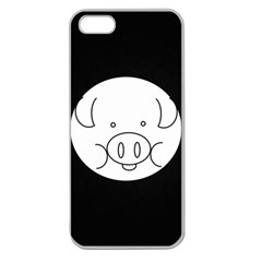 Pig Logo Apple Seamless iPhone 5 Case (Clear)