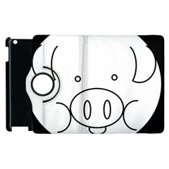 Pig Logo Apple iPad 2 Flip 360 Case