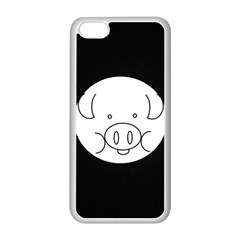 Pig Logo Apple iPhone 5C Seamless Case (White)