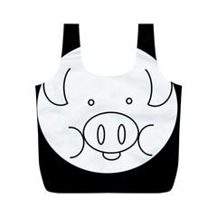Pig Logo Full Print Recycle Bags (M)