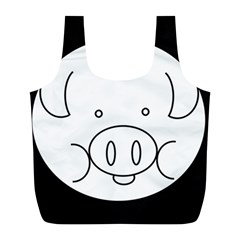 Pig Logo Full Print Recycle Bags (L)
