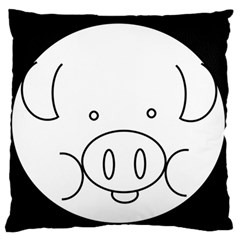 Pig Logo Standard Flano Cushion Case (Two Sides)
