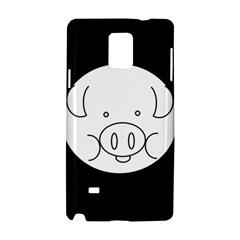 Pig Logo Samsung Galaxy Note 4 Hardshell Case