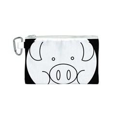 Pig Logo Canvas Cosmetic Bag (S)