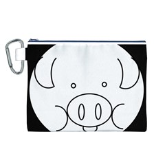 Pig Logo Canvas Cosmetic Bag (L)