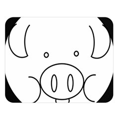 Pig Logo Double Sided Flano Blanket (large)