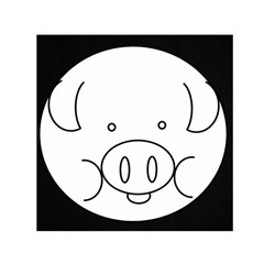 Pig Logo Small Satin Scarf (Square)