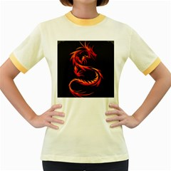 Dragon Women s Fitted Ringer T-Shirts