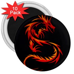 Dragon 3  Magnets (10 Pack)