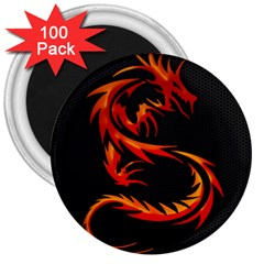 Dragon 3  Magnets (100 Pack)