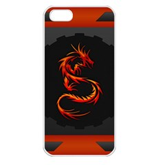 Dragon Apple iPhone 5 Seamless Case (White)