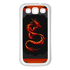 Dragon Samsung Galaxy S3 Back Case (White)