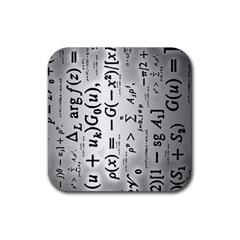 Science Formulas Rubber Coaster (Square)