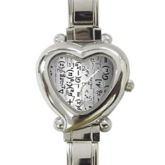Science Formulas Heart Italian Charm Watch