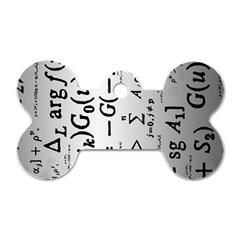 Science Formulas Dog Tag Bone (One Side)