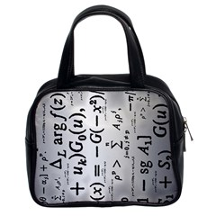 Science Formulas Classic Handbags (2 Sides)