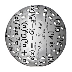Science Formulas Ornament (Round Filigree)