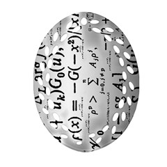 Science Formulas Oval Filigree Ornament (Two Sides)