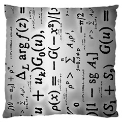 Science Formulas Large Cushion Case (Two Sides)