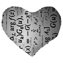 Science Formulas Large 19  Premium Heart Shape Cushions