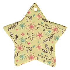 Seamless Spring Flowers Patterns Ornament (Star)