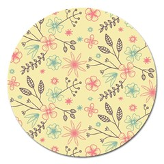Seamless Spring Flowers Patterns Magnet 5  (Round)